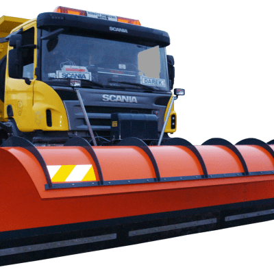 Ozamet plastic motorway snow plough