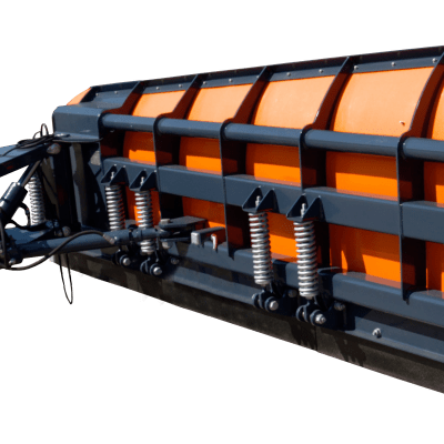 Ozamet lateral-mounted snow plough