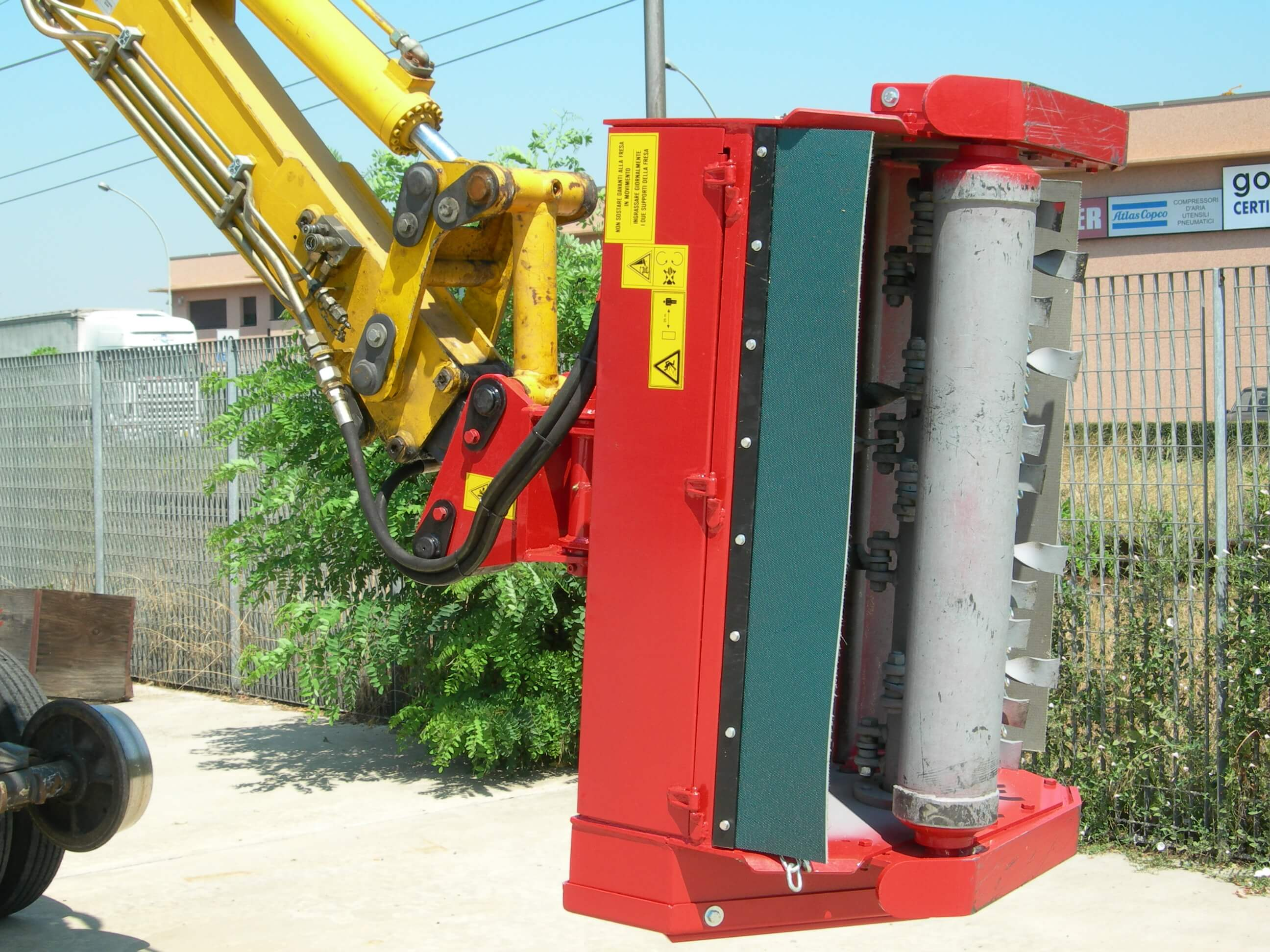 FCS flail head for excavators